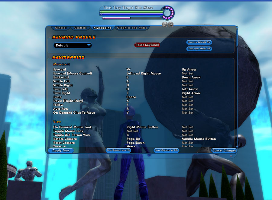Mappable Commands | City of Heroes® : The World's Most